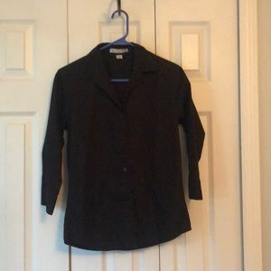 Black port authority 3/4 sleeve shirt